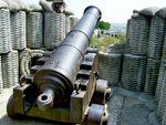 Артиллерийское орудие времен Крымской войны